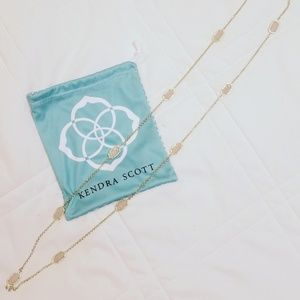 Gold and pale pink long Kendra Scott necklace